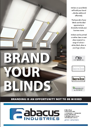 Brand your blinds