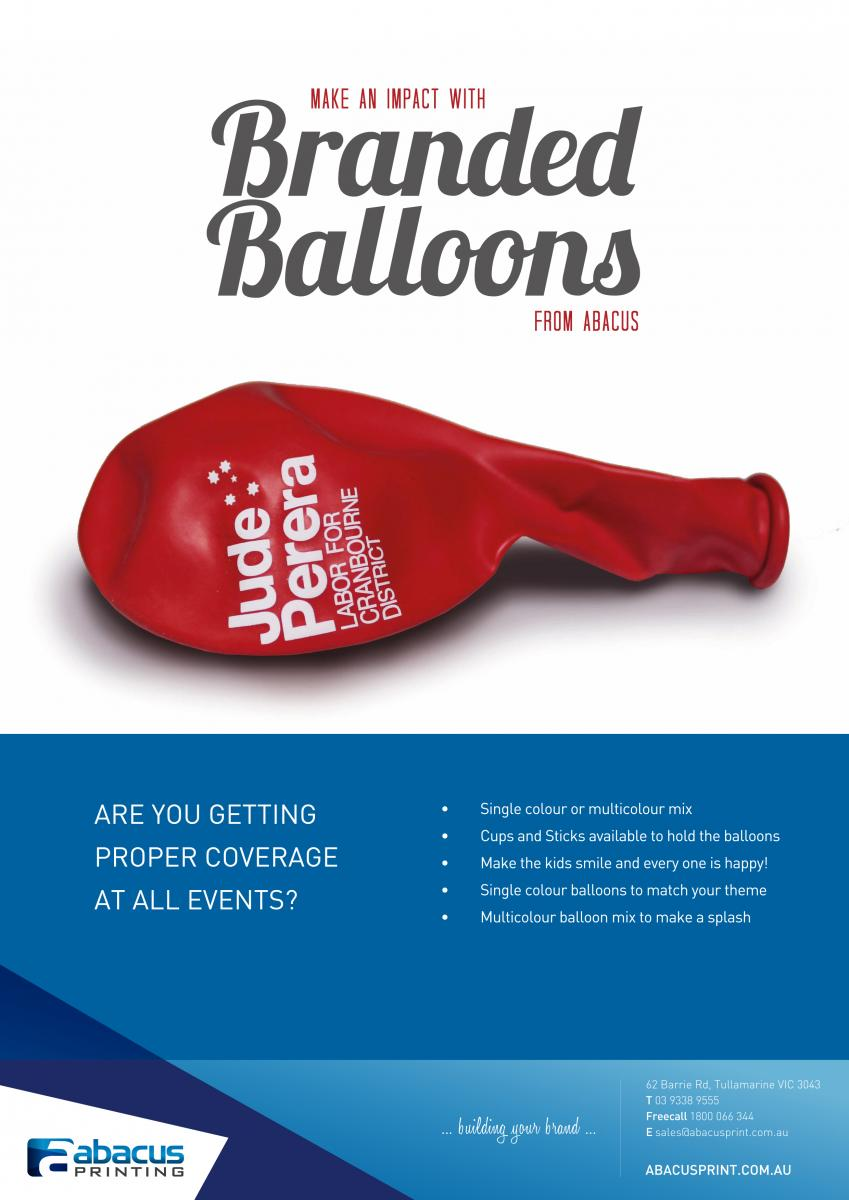Branded Balloons for MPs