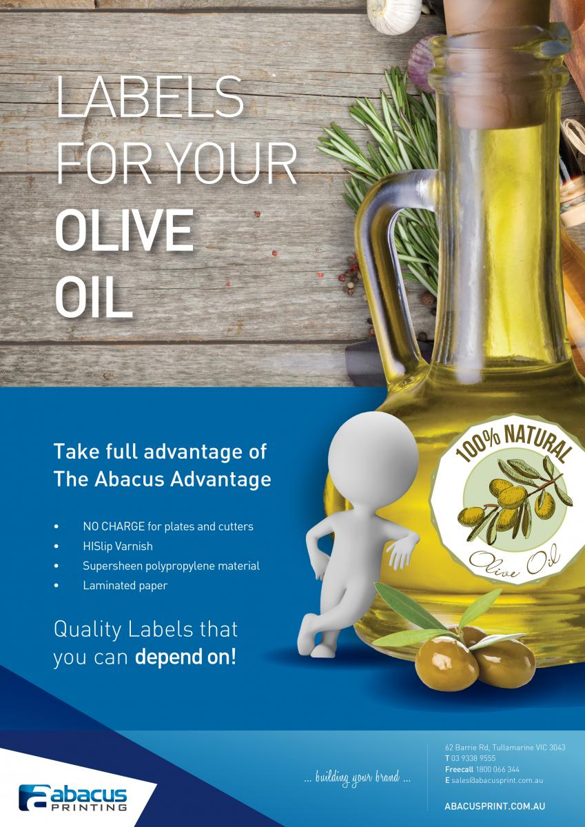 Olive Oil Labels – from Abacus - Ph 1800 066 344