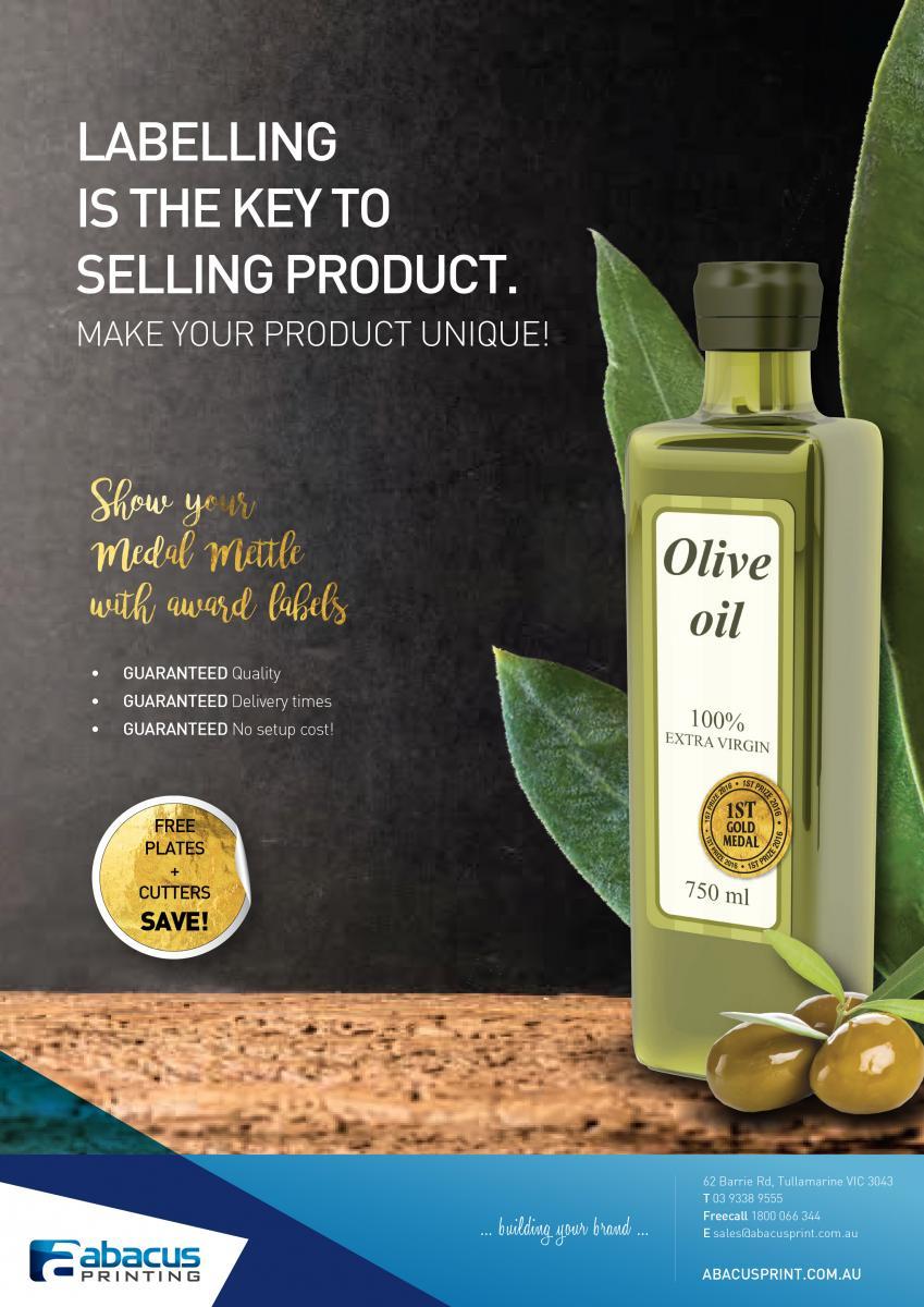 Olive Oil Medal Labels