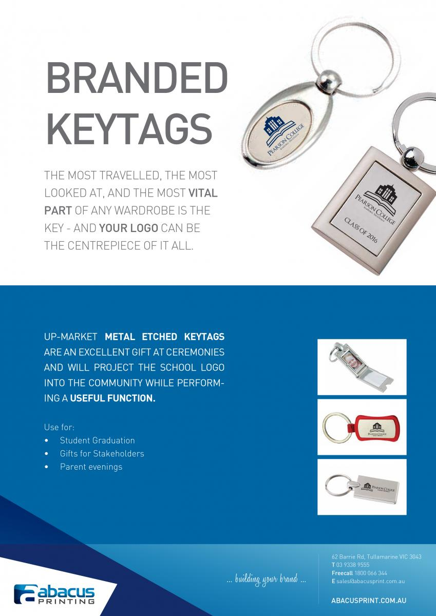 Promotional Keytags for Schools