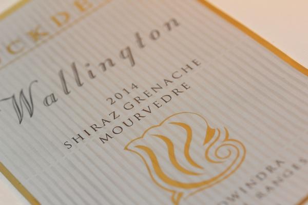 Highbuild and Gold Foil - wine label