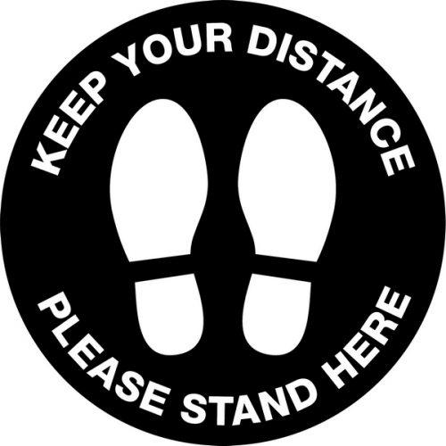 Keep Your Distance – Anti Slip Floor Graphic