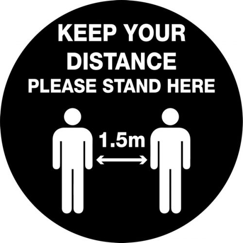 Keep Your Distance 1.5m – Anti Slip Floor Graphic