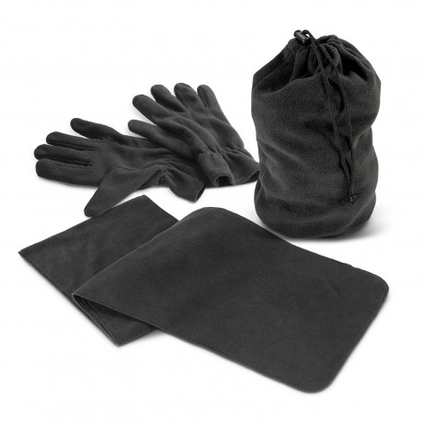 Quail Scarf and Gloves Set