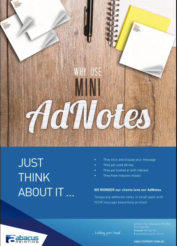 Advertising notes