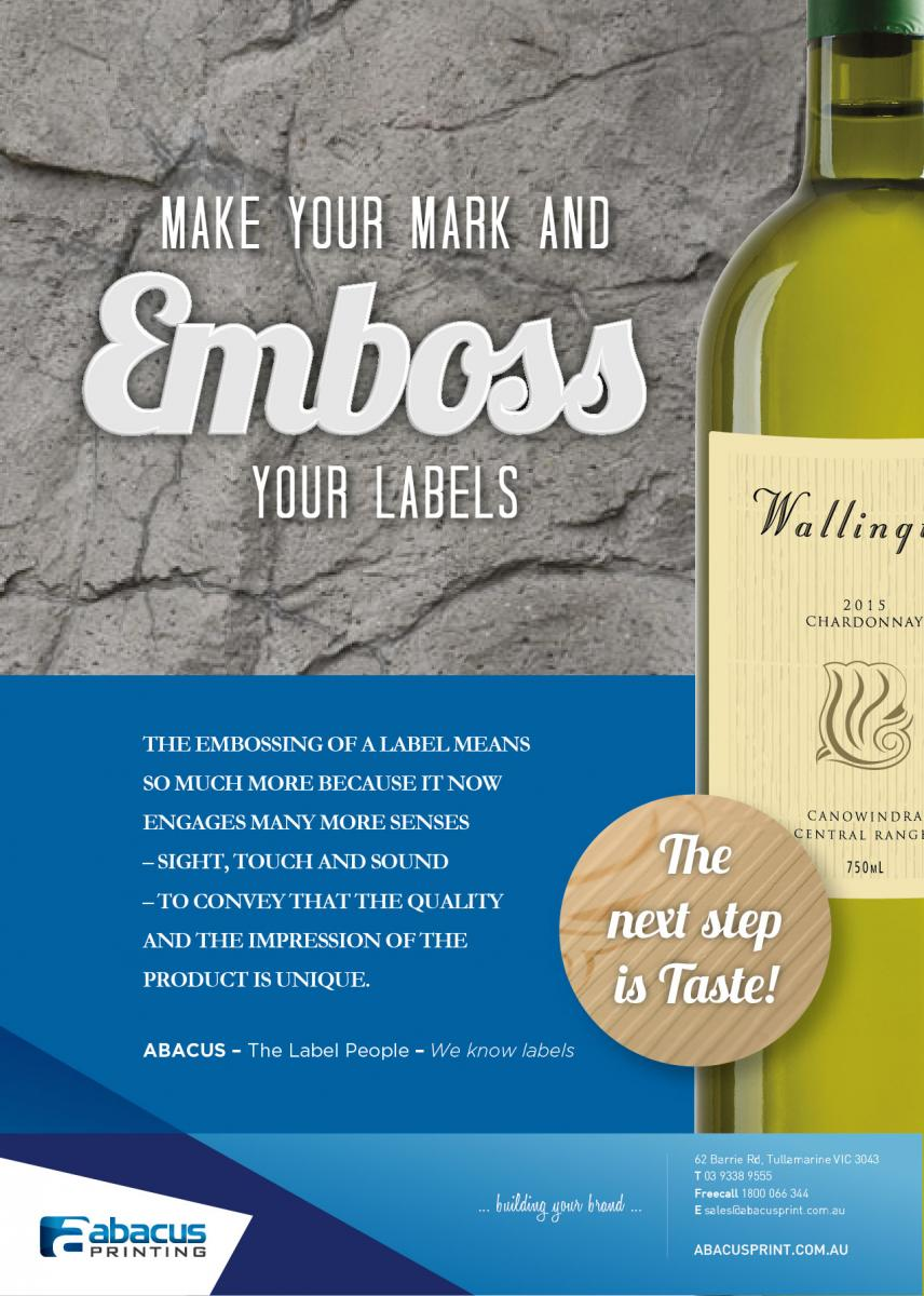 Embossed Wine labels