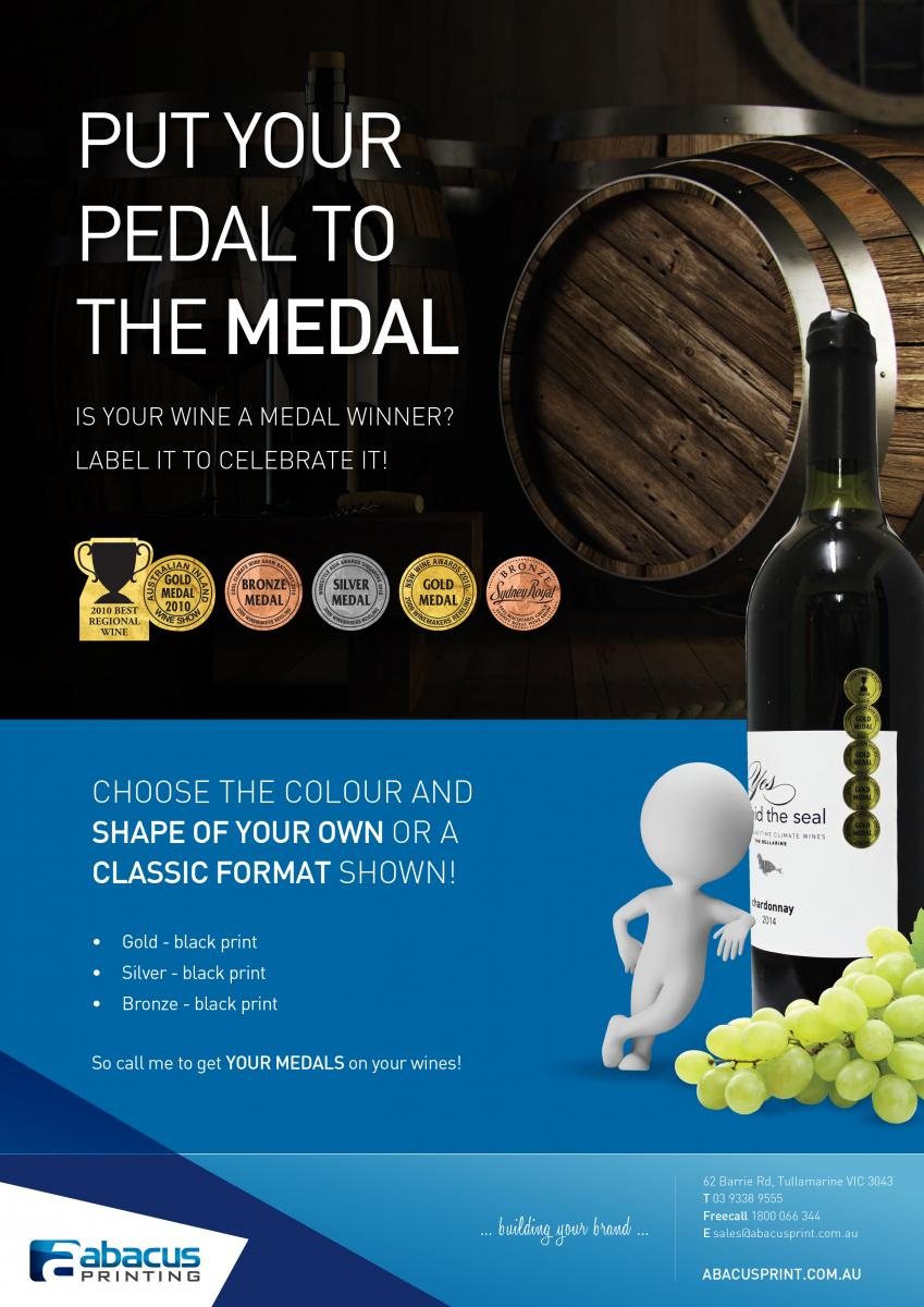 Wine Medal Labels