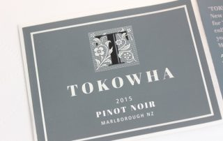 Silver foil - gloss varnish - Barooka Wine Label paper