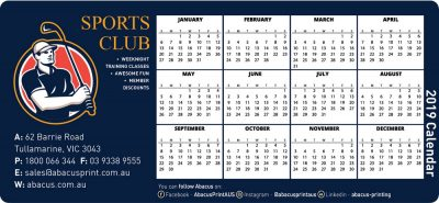 Fridge Magnet Calendar Clubs