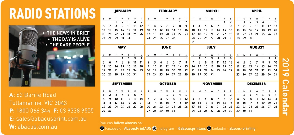 Fridge Magnet Calendar Radio Stations