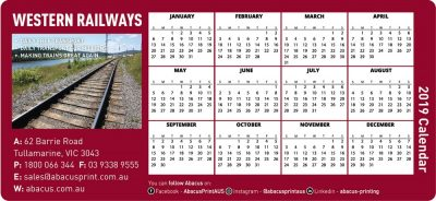 Fridge Magnet Calendar Railways