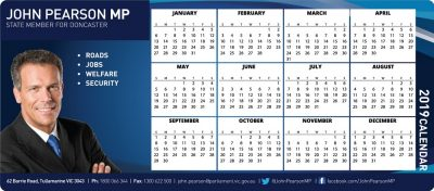 Fridge Magnet Calendar MP
