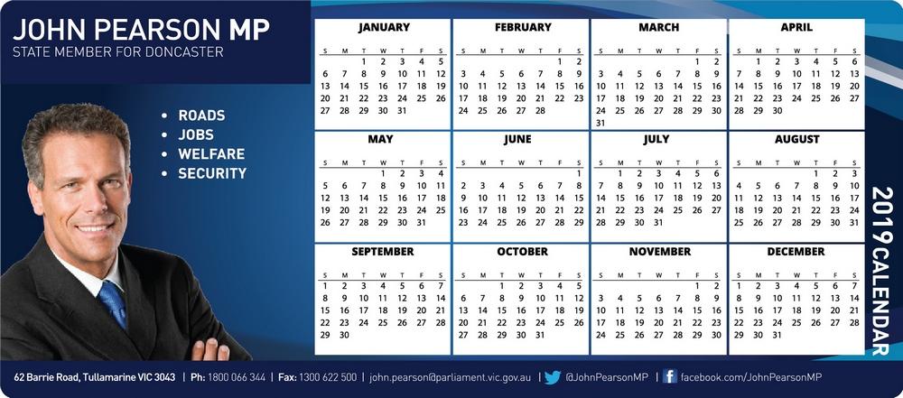 Fridge Magnet Calendar MP
