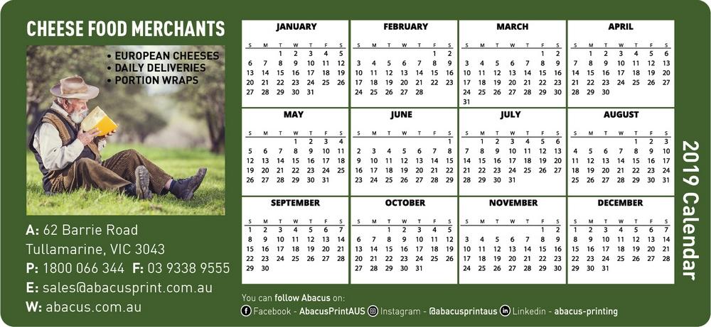 Fridge Magnet Calendar General Business