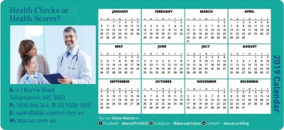 Fridge Magnet Calendar Healthcare
