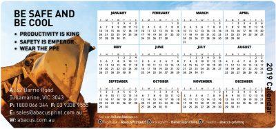 Fridge Magnet Calendar Mines