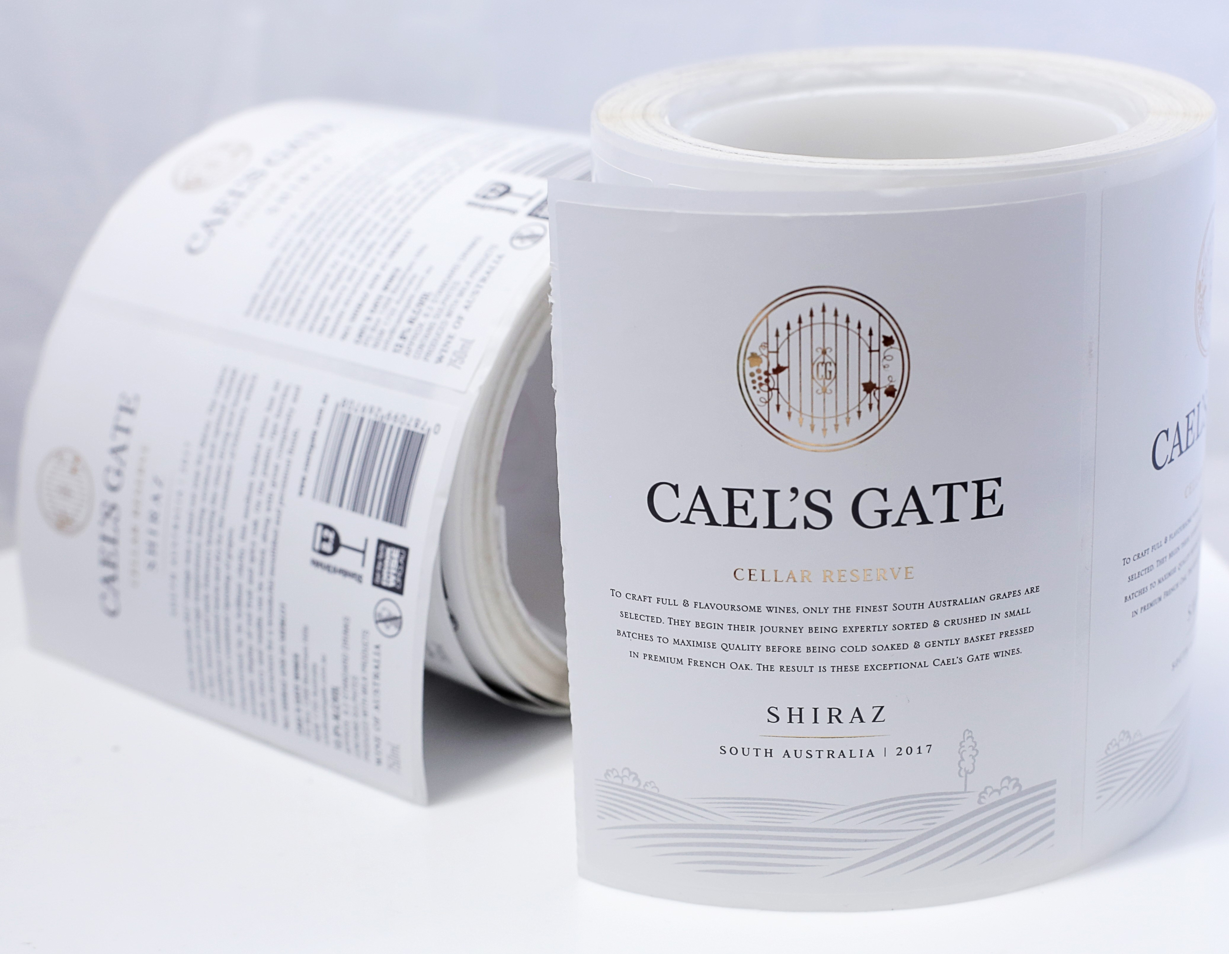 Caels Gate Wine Labels