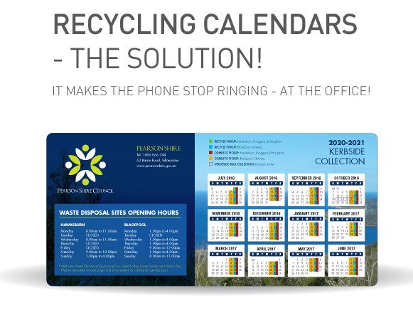 Recycling Calendar Brochure