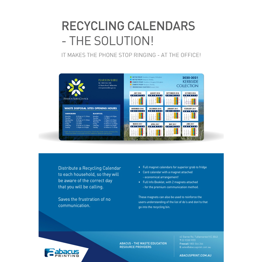 Recycling Calendar Brochure for website
