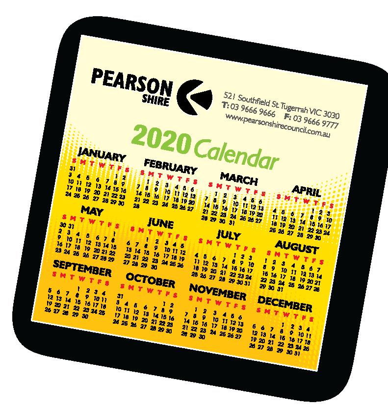 2020 Council Calendar