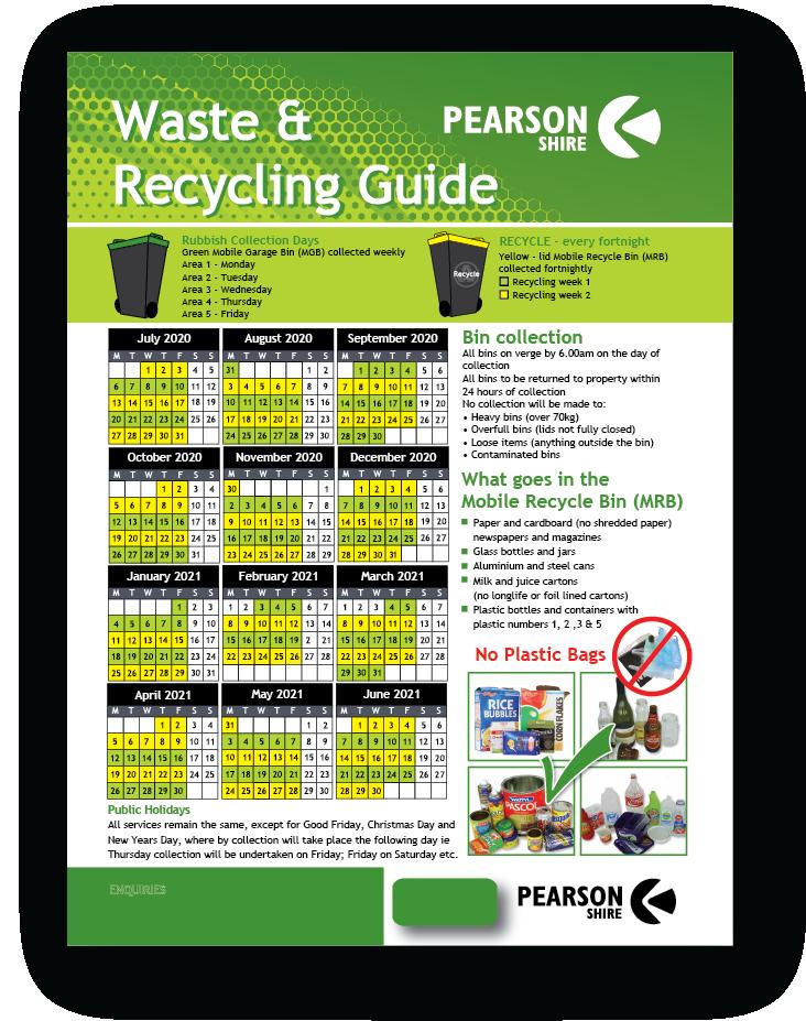 Recycling Calendars Pickup date-Calendar-01
