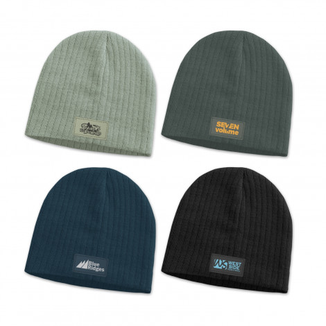 Nighthawk Cable Knit Beanie with Patch